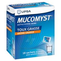 MUCOMYST 200 mg Poudre pour solution buvable en sachet B/18 à CHALON SUR SAÔNE