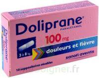 DOLIPRANE 100 mg Suppositoires sécables 2Plq/5 (10) à CHALON SUR SAÔNE