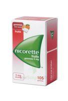 Nicorette 2 Mg Gomme à Mâcher Médicamenteuse Sans Sucre Fruits Plq/105 à CHALON SUR SAÔNE