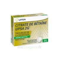 Citrate De Bétaïne Upsa 2 G Comprimés Effervescents Sans Sucre Menthe édulcoré à La Saccharine Sodique T/20 à CHALON SUR SAÔNE