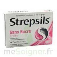 STREPSILS FRAISE SANS SUCRE, pastille édulcorée à l'isomalt, au maltitol et à la saccharine sodique à CHALON SUR SAÔNE