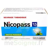 Nicopass 1,5 mg Pastille sans sucre menthe fraîcheur Plq/96 à CHALON SUR SAÔNE