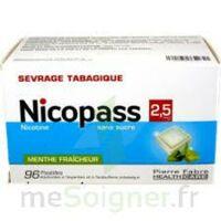 Nicopass 2,5 Mg Pastille Menthe Fraîcheur Sans Sucre Plq/96 à CHALON SUR SAÔNE