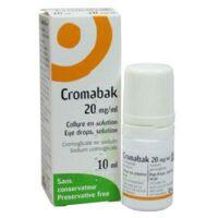 Cromabak 20 Mg/ml, Collyre En Solution à CHALON SUR SAÔNE