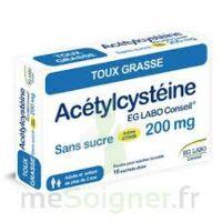 ACETYLCYSTEINE EG LABO CONSEIL 200 mg SANS SUCRE, poudre pour solution buvable en sachet-dose à CHALON SUR SAÔNE