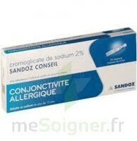 CROMOGLICATE DE SODIUM SANDOZ CONSEIL 2 %, collyre en solution en récipient unidose 10Unid/0,3ml à CHALON SUR SAÔNE