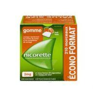 Nicorette 2 Mg Gomme à Mâcher Médicamenteuse Sans Sucre Fruits Plq/210 à CHALON SUR SAÔNE