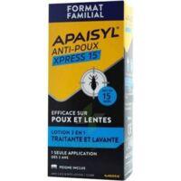 Apaisyl Anti-poux Xpress 15' Lotion Antipoux Et Lente 100ml+peigne à CHALON SUR SAÔNE