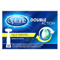 Optone Monodose Double Action Solution Oculaire Yeux Irrités B/10 à CHALON SUR SAÔNE